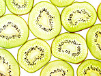 Macro of kiwi slices
