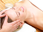 Facial Massage at the day spa