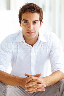 Buy stock photo Portrait of confident young man posing
