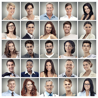 Buy stock photo Composite image of a variety of adults
