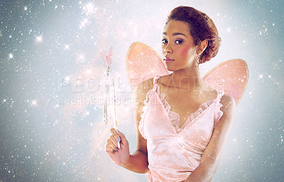 Buy stock photo A cropped shot of a cute fairy