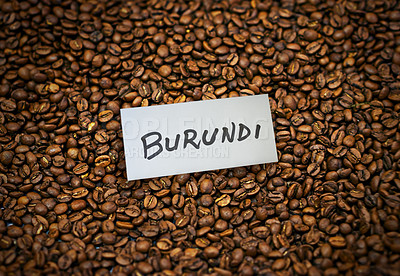 Buy stock photo Closeup shot of roasted coffee beans