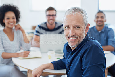 Buy stock photo Portrait of a group of designers at work in an office