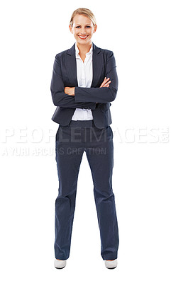 Buy stock photo Portrait of a confident young businesswoman