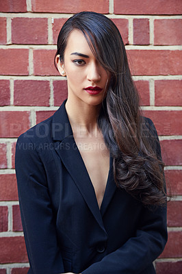 Buy stock photo Shot of an attractive and elegant young woman