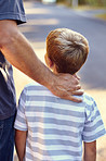 The guiding hand of a caring father