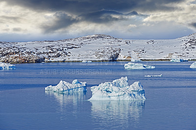 Buy stock photo Shot of an arctic landscape