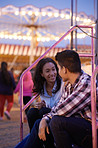 First date at the fun fair