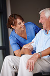 Positive support for senior patients