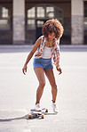 She's a real skatergirl!