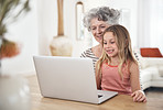 Spending some time online with granny