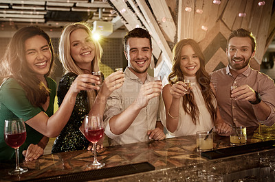 Buy stock photo Shot of people partying