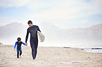 Sharing a passion for surfing with his son