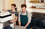 Using the latest business software to manage their cafe