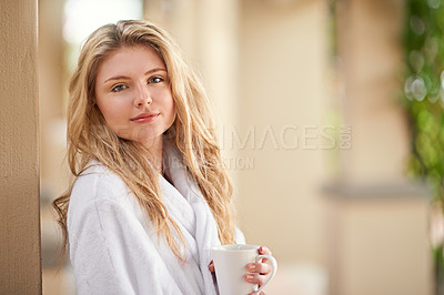 Buy stock photo Shot of a young woman enjoying a day at the spa