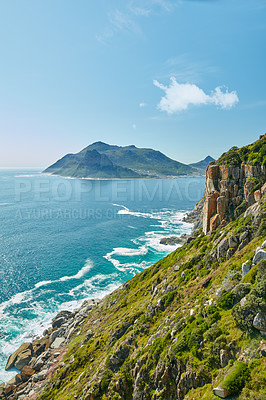 Buy stock photo Nature surrounding the city of Cape Town, South Africa - Chapman´s Peak area