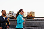 Training together for their first marathon