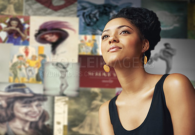 Buy stock photo Cropped shot of an attractive young woman