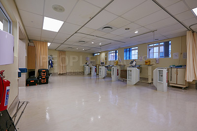 Buy stock photo Shot of an empty hospital ward