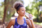 It's essential to drink water when exercising