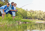 Fishing is a family activity