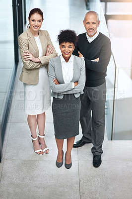 Buy stock photo Shot of a group of businesspeople in an office