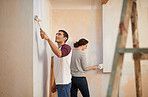 Adding personality to their home with a fresh paint job