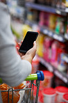 The convenience of a digital shopping list