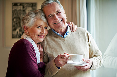 Buy stock photo Shot of a senior couple at home
