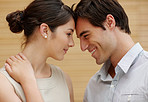 Profile image of happy young couple in love