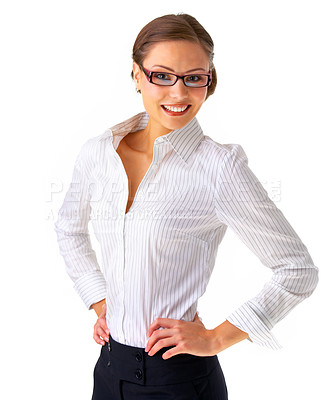 Buy stock photo Portrait of a young businesswoman.