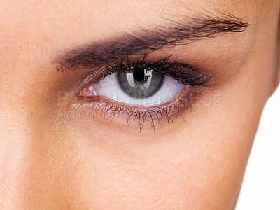 Buy stock photo Cropped image of a beautiful eye of a young woman