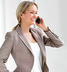 Young beautiful woman using cell phone
