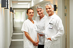 Friendly caring team of medical healthcare professionals