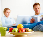 Modern Lifestyle - Contemporary couple sitting together