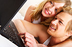 Young couple browsing the internet
