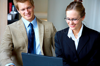 Buy stock photo Businessteam at a meeting in an office