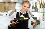 Beautiful barmaid with a bubbly personality