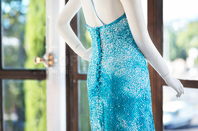 Buy stock photo A mannequin displaying a dress for summer