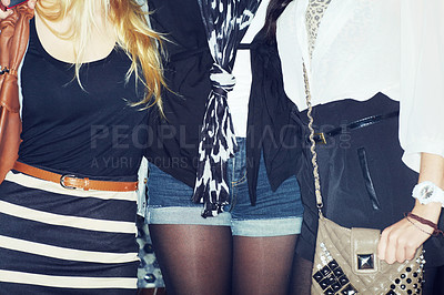 Buy stock photo Cropped shot of a young woman dressed for a night out