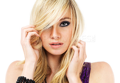 Buy stock photo Portrait of a beautiful young blonde woman