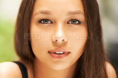 Buy stock photo Closeup of a gorgeous young woman's face
