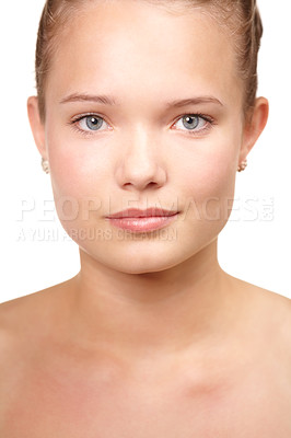 Buy stock photo Cropped portrait of a pretty teenager