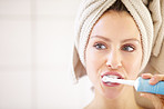 Keeping her teeth in great shape - Dental hygiene
