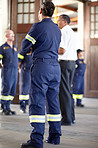 Firemen at attention