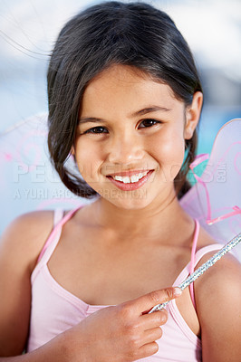 Buy stock photo Cute little girl dressed in a fairy costume