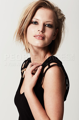 Buy stock photo Studio shot of a young edgy fashion model