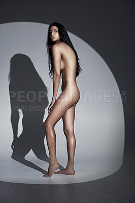 Buy stock photo Artistic nude image of a young woman