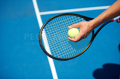 Buy stock photo Shot of a tennis match on a sunny day