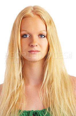 Buy stock photo Portrait of an attractive young lady